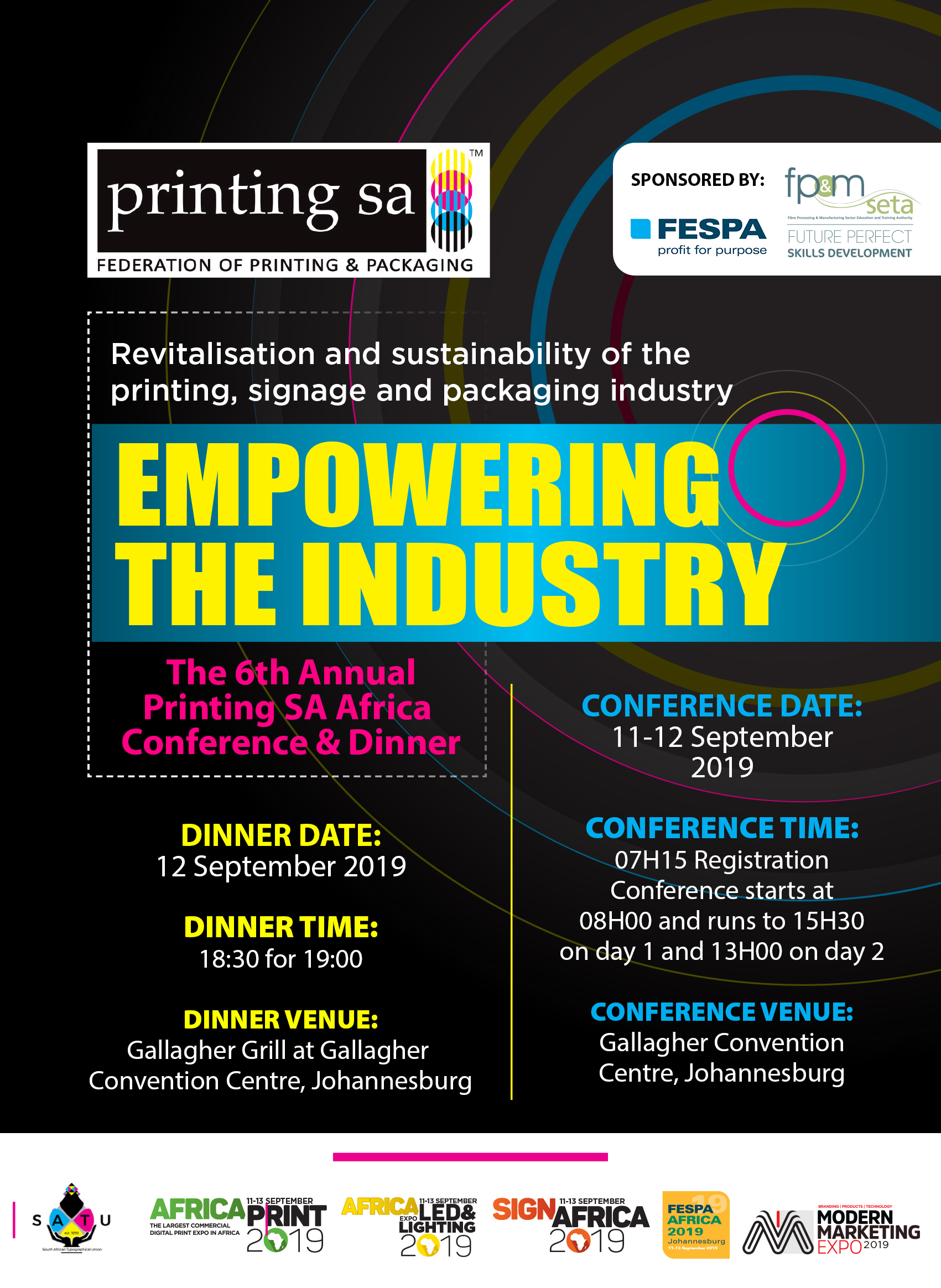 Printing SA Africa Conference and Annual Dinner - Africa Print Expo