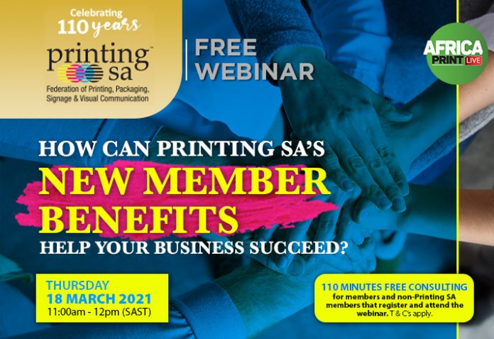 Free Webinar: How Can Printing SA's New Member Benefits Help Your Business Succeed?
